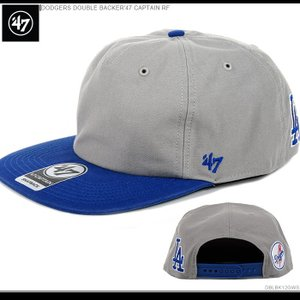 47Brand キャップ ドジャース DODGERS DOUBLE BACKER'47 CAPTAIN RF|angelitta