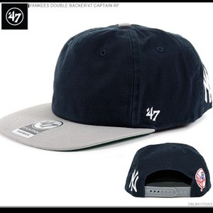 47Brand キャップ ヤンキース YANKEES DOUBLE BACKER'47 CAPTAIN RF|angelitta