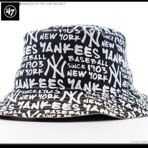 47 Brand バケットハット YANKEES '47 FAT CAP BUCKET ヤンキース|angelitta