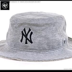 47 Brand ハット 47 Brand バケットハット YANKEES '47 HIKER KHOCKDOWN BUCKET/47ブランド MLB ハット/YANKEES/ニューヨーク/ヤンキース/|angelitta