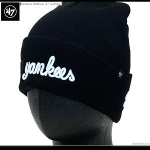 47 Brand ビーニー Yankees McBess'47CuffKnit 47ブランド  ニットキャップ ヤンキース|angelitta