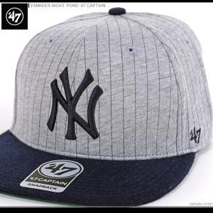 47 Brand キャップ YANKEES NIGHT POND '47 CAPTAIN/47ブランド MLB キャップ/YANKEES/ニューヨーク/ヤンキース/|angelitta