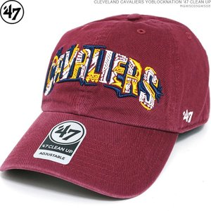 47 Brand キャップ CAVALIERS キャバリアーズ CLEVELAND CAVALIERS YOBLOCKNATION '47 CLEAN UP ストラップバック NBA ローキャップ|angelitta