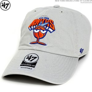47 Brand キャップ KNICKS ニックス NEW YORK KNICKS LYONS '47 CLEAN UP ストラップバック NBA ローキャップ|angelitta