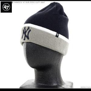 47 Brand ビーニー YANKEES '47 SUB ZERO CUFF KNIT/47ブランド ニットキャップ/ニット帽/NY/ヤンキース/|angelitta