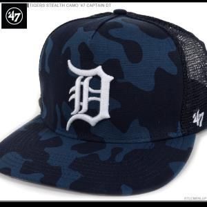 47 Brand キャップ TIGERS STEALTH CAMO '47 CAPTAIN DT/47ブランド MLB キャップ/TIGERS/デトロイト/タイガース/|angelitta