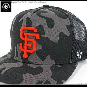 47 Brand キャップ GIANTS STEALTH CAMO '47 CAPTAIN DT/47ブランド MLB キャップ/GIANTS/フランシスコ/ジャイアンツ/|angelitta