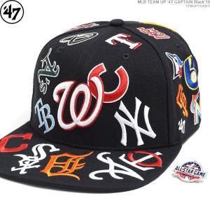 47 Brand キャップ スナップバック オールスター MLB TEAM UP '47 CAPTAIN Black'18/|angelitta
