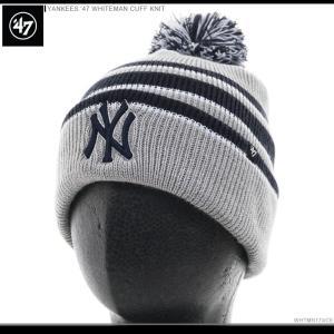 47 Brand ビーニー YANKEES '47 WHITEMAN CUFF KNIT/47ブランド ニットキャップ/ニット帽/NY/ヤンキース/|angelitta