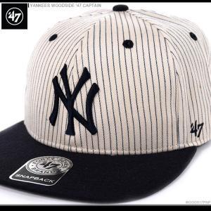 47 Brand キャップ YANKEES WOODSIDE '47 CAPTAIN/47ブランド MLB キャップ/YANKEES/ニューヨーク/ヤンキース/|angelitta