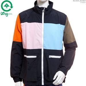 LRG ウインドジャケット エルアールジー BLOCK JACKET 半額セール|angelitta