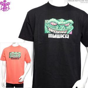 MISHKA Tシャツ ミシカ 50%OFFセール  半袖Tシャツ LAMOUR REPTILIAN TEE ストリート|angelitta