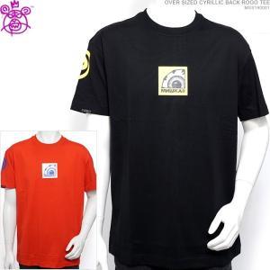 ミシカ 半袖Tシャツ MISHKA Tシャツ OVER SIZED CYRILLIC BACK ROGO TEE ストリート|angelitta