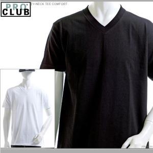PRO CLUB Tシャツ プロクラブ 半袖Tシャツ V-NECK TEE COMFORT|angelitta