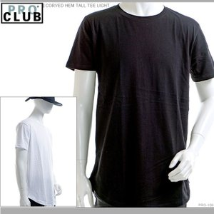 PRO CLUB Tシャツ プロクラブ 半袖Tシャツ CORVED HEM TALL TEE LIGHT|angelitta