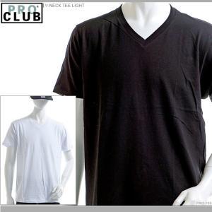 PRO CLUB Tシャツ プロクラブ 半袖Tシャツ V-NECK TEE LIGHT|angelitta