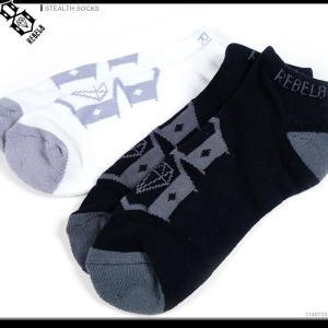 REBEL8 ソックス 半額セール STEALTH SOCKS REBEL8 スニーカーソックス 靴下 レベル8 くつした ストリート|angelitta