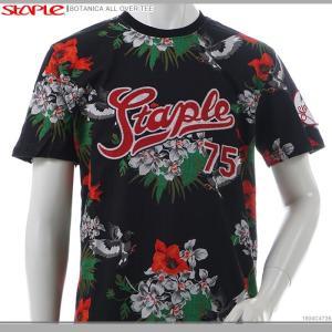 STAPLE Tシャツ 半袖 ストリート ステイプル 半額セール BOTANICA ALL OVER TEE|angelitta