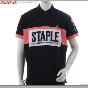 STAPLE ポロシャツ 半袖 ステイプル 半額セール DECO STADIUM POLO|angelitta