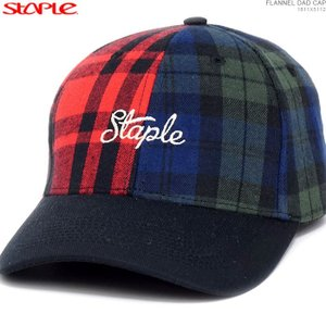 STAPLE キャップ ステイプル 半額セール  FLANNEL DAD CAP|angelitta