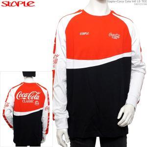 STAPLE 長袖Tシャツ ステイプル Coca Cola コカコーラ Staple×Coca Cola Intl LS TEE|angelitta