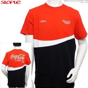 STAPLE 半袖Tシャツ ステイプル Coca Cola コカコーラ Staple×Coca Cola WAVE TEE|angelitta