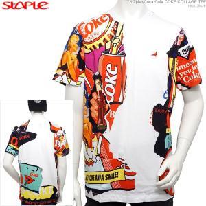 STAPLE 半袖Tシャツ ステイプル Coca Cola コカコーラ Staple×Coca Cola COKE COLLAGE TEE|angelitta