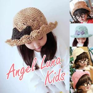 帽子 UVカット 即納 キッズ 子供用 帽子  紫外線対策 つば広 単品 日除け メール便y|angelluna