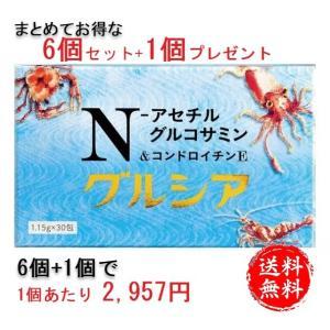 N-アセチル グルコサミン1000mgと進化型コンドロイチン E グルシア 6個+プレゼント1個セット