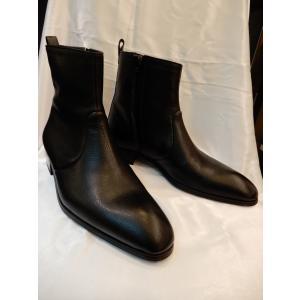 アルティオリ【ARTIOLI】ラマカーフ アンクルブーツ ブラック サイズ8 1/2|angelo1026
