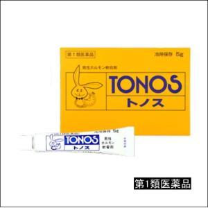第1類医薬品 トノス 3g 6箱セット 大東製薬工業 男性ホルモン軟膏剤 早漏防止 ホルモンの分泌不足による精力減退、勃起力減退、遺精、男子更年期障害の改善に