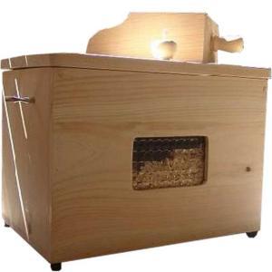 徳島県神山町産ひのき カンナチップ3kg&専用木製ボックス&スコップセット 無塗装白木 受注製作|angelsdust