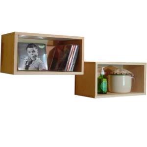 無塗装白木 壁掛けディスプレイボックス 二個組み(W33×D17×H17cm)CDラックにも 受注製作|angelsdust