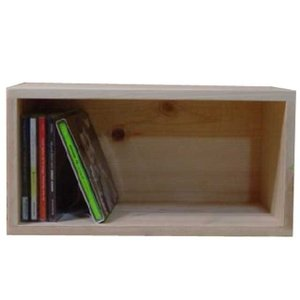 無塗装白木 ディスプレイボックス(W33×D17×H17cm)CDラック 受注製作|angelsdust