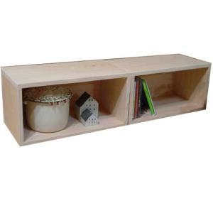 無塗装白木 ディスプレイボックス二個組み(W33×D17×H17cm)CDラック 受注製作|angelsdust