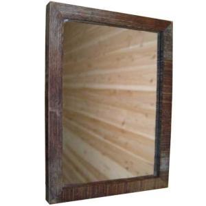 ウォールミラー 古材 w20d2h28cm 細枠 木製 ヒノキ 受注製作|angelsdust