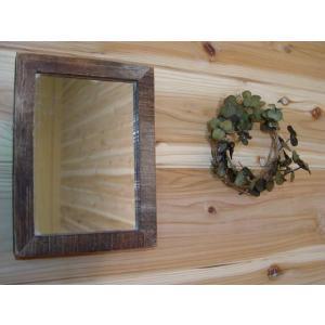 木製細枠ミラー 鏡(16×22cm)(バーンウッド)受注製作|angelsdust