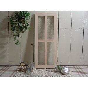 ガラスフレーム FIX窓 室内窓 カフェ窓 木製ひのき フローラガラス 両面仕様桟入り 20×50cm・厚み2.5cm 北欧 無塗装白木 受注製作|angelsdust