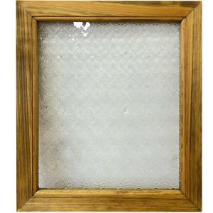 ガラスフレーム FIX窓 室内窓 カフェ窓 フローラガラス窓 40×2×35cm アンティークブラウン 受注製作 angelsdust