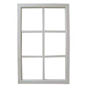カフェ窓 透明ガラスの室内窓 フィックス窓 片面桟入り(57×90cm・厚み3.5cm) (アンティークホワイト) 受注製作|angelsdust