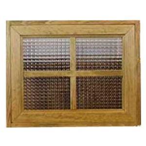 カフェ窓 フィックス窓 木製ひのき フランス製チェッカーガラスの窓枠つき室内窓 採光窓 両面桟入り(50×15×40cm・厚み3.5cm)アンティークブラウン 受注製作|angelsdust