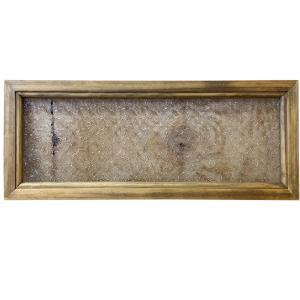 ガラスフレーム FIX窓 室内窓 カフェ窓 木製 ひのき フローラガラス 片面仕様 50×20cm 北欧 アンティークブラウン 受注製作 angelsdust