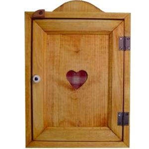 木製ハートのキーボックス(レッド) (ナチュラル) 受注製作|angelsdust