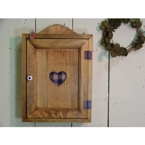 木製ハートのキーボックス(ブルー) (アンティークブラウン) 受注製作|angelsdust