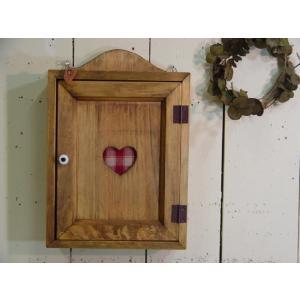 木製ハートのキーボックス(レッド) (アンティークブラウン) 受注製作|angelsdust