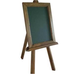 アンティークブラウン 木製イーゼル&グリーンボード(黒板)セット メニュースタンド 受注製作|angelsdust
