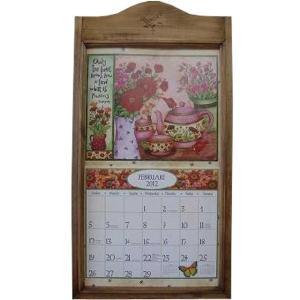 アンティークブラウン バーニング麦の穂 木製カレンダーフレーム 受注製作|angelsdust