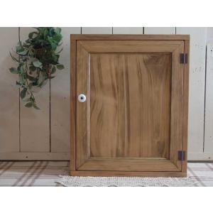 アンティークブラウン 木製扉のトイレットペーパーキャビネット(ニッチ用埋め込みタイプ) 受注製作 angelsdust
