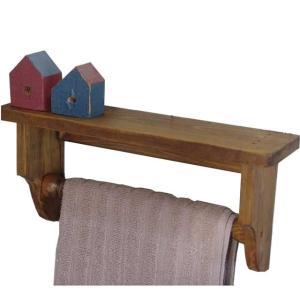 木製タオルハンガーミニミニシェルフ 半折タイプ (アンティークブラウン) 受注製作|angelsdust