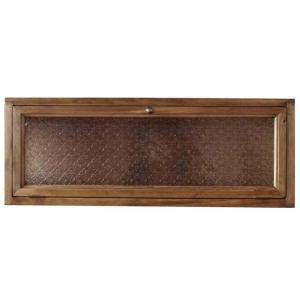 横型キャビネット 木製ひのき フローラガラス扉  ニッチ用埋め込みタイプ 見せる収納 おうちカフェ 70×17×26cm(アンティークブラウン)受注製作 angelsdust